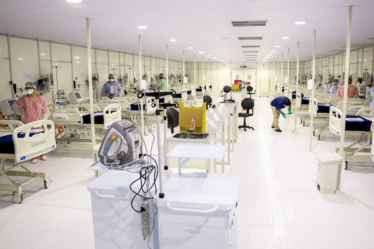 Hospital de campanha no Gama recebe 22 pacientes
