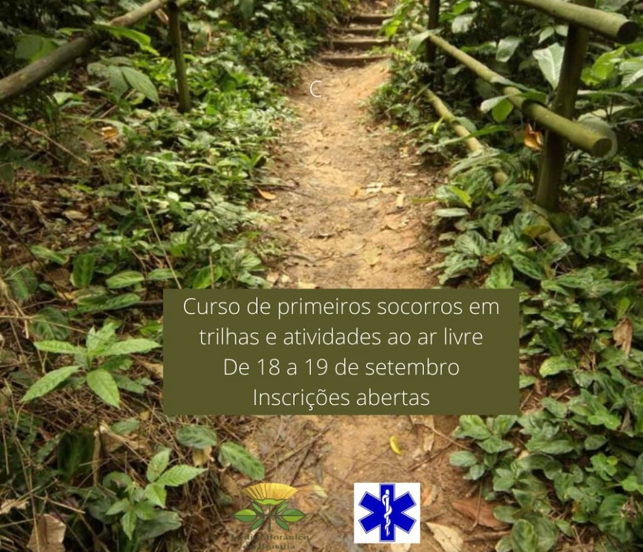 Curso de primeiros socorros em trilhas do Jardim Botânico