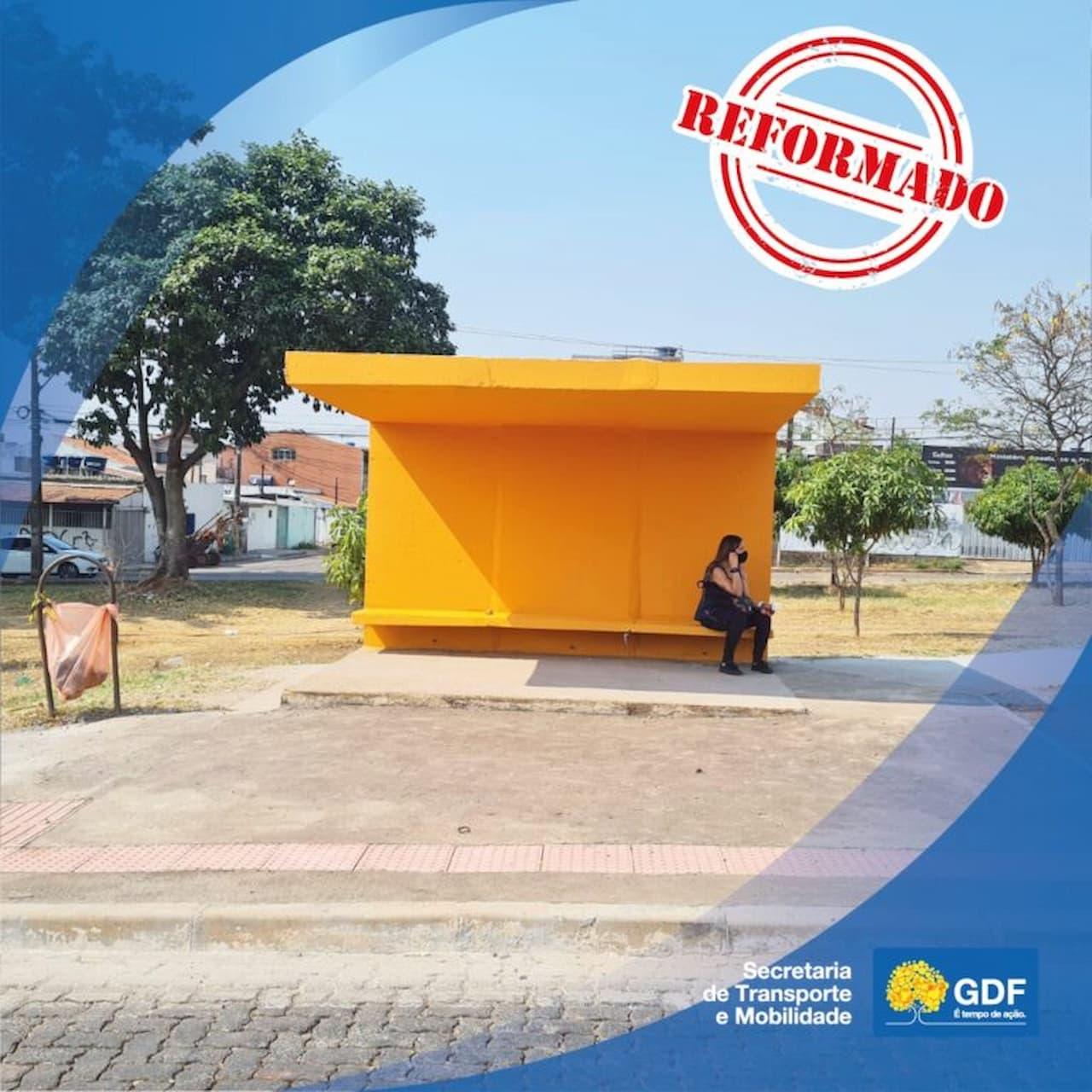 Iniciada a reforma de 29 abrigos de ônibus na EPNB